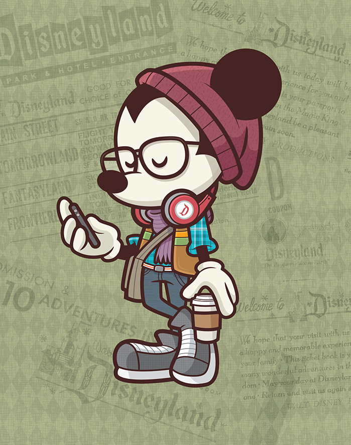 One of Jerrod's favorite interpretations of Hipster Mickey