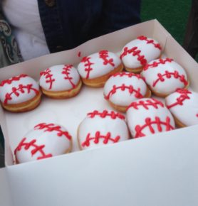 Baseball shaped Krispy Kreme Donuts!