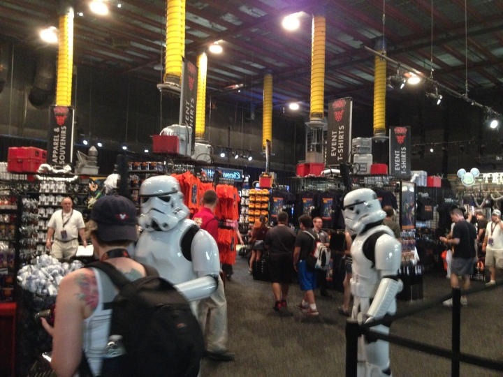 The vast array of merchandise once you walk into Darth's Mall