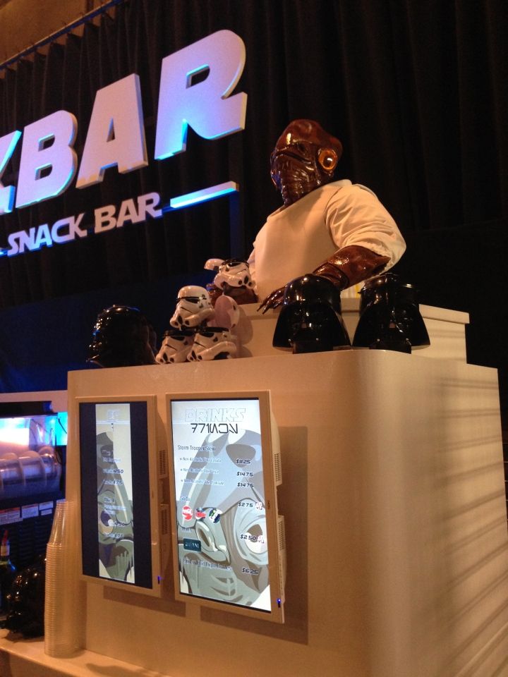 Admiral Ackbar personally supervises the distribution of refreshments