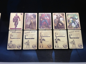 A set of Captain America trading cards