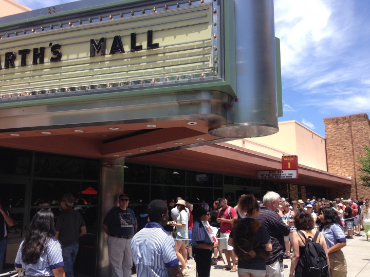 Outside Darth's Mall on the first weekend of Star Wars Weekends 2014