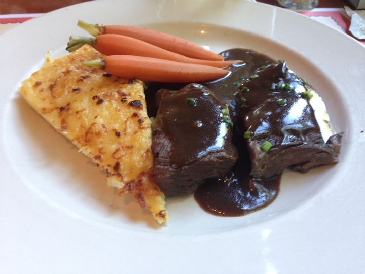 Course 2: Beef short ribs with polenta