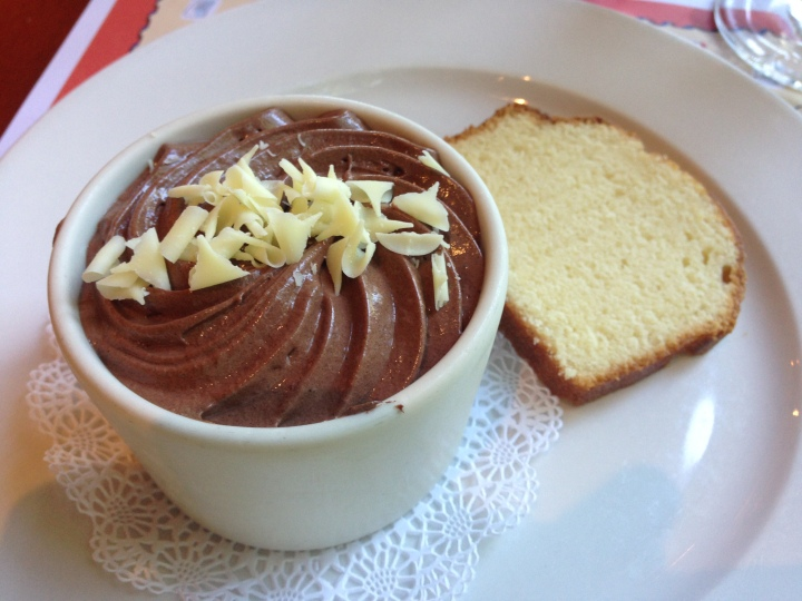 Course 3: Dessert - chocolate mousse!