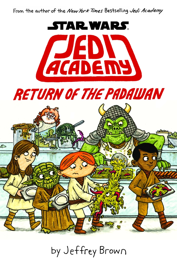 The cover art for Return of the Padawan, the second book in the Jedi Academy series