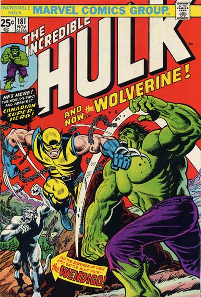1st appearance of Wolverine in The Incredible Hulk
