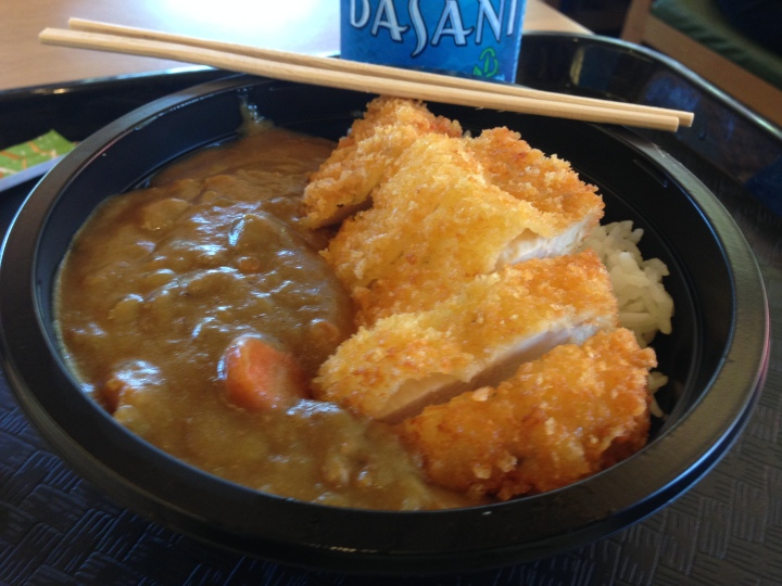 Chicken Cutlet Curry bowl - quite yummy