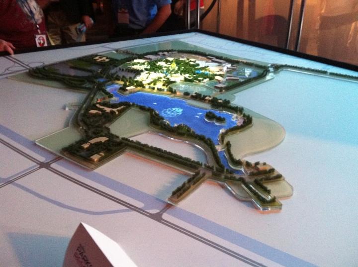Model of the Shanghai Disney Resort revealed at D23 Expo 2011