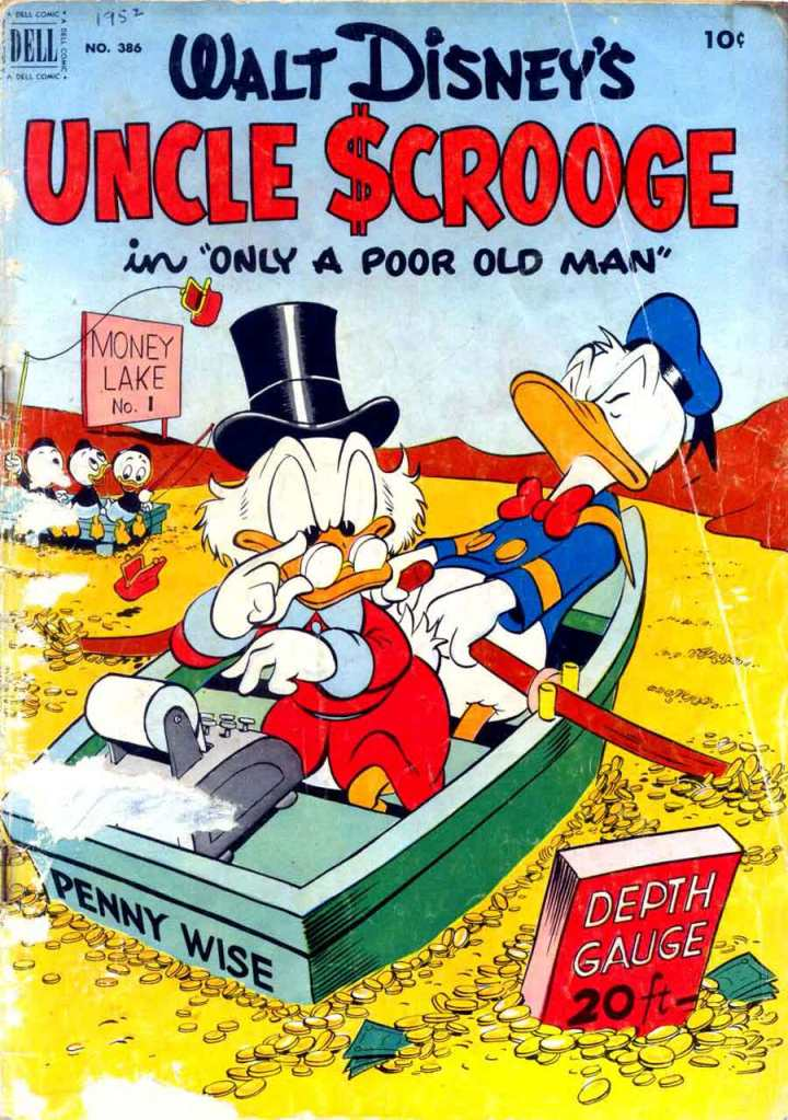 One of Carl Barks' Uncle Scrooge covers