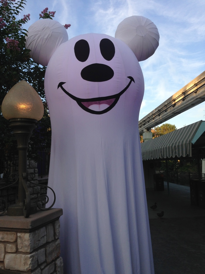 Floating Mickey ghosts (which light up at night) guide you to treat trails