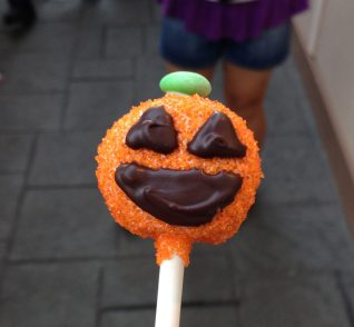 Pumpkin shaped marshmallow treat from Candy Palace