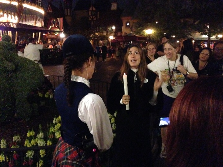 Our guide Krystal and Gracey sharing a bit about the Halloween spirit
