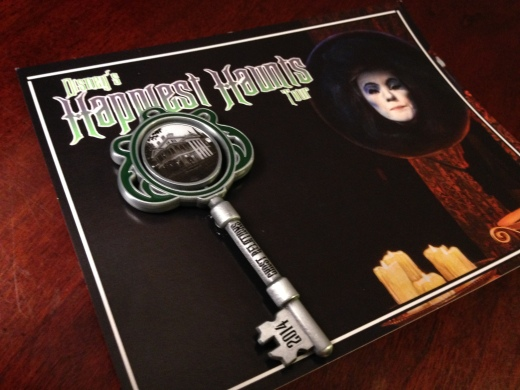 Happiest Haunts Tour collectible pin for 2014 - Haunted Mansion on one side and Disney's Happiest Haunts Tour on the other