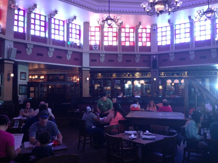 The beautiful interior of the restaurant - one of many parts of the restaurant to eat in, each with it's own character