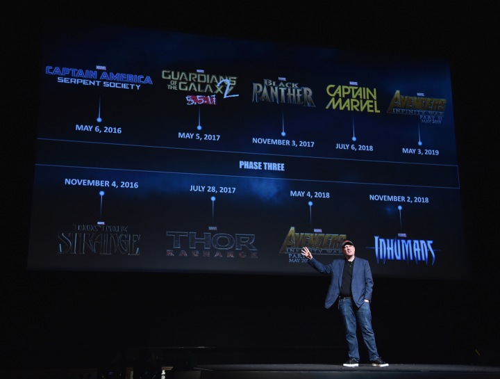 Kevin Feige reveals the map to the Marvel Cinematic Universe - Phase 3