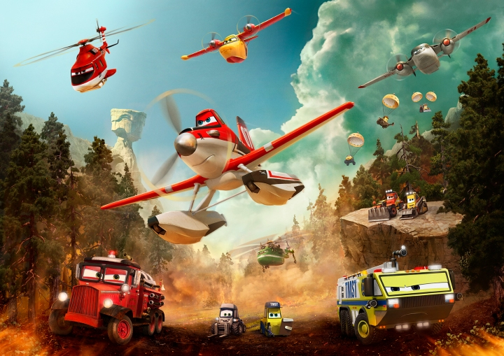 The cast of Planes: Fire & Rescue