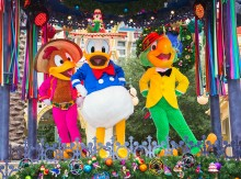 The Three Caballeros make a special appearance in the Disney Viva Navidad section of Festival of Holidays (Paul Hiffmeyer/Disneyland Resort)