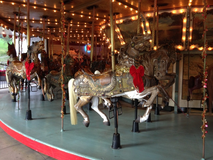 The carousel at Griffith Park that Walt took his daughters Diane and Sharon to ride on