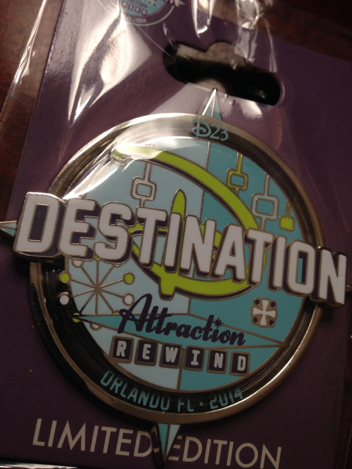 Beautiful jumbo pin from the Destination D Attraction Rewind event at WDW