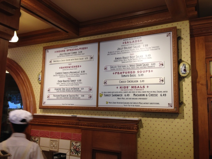 Wide variety of items to choose from the Jolly Holiday menu