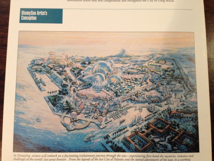 An artist conception rendering of Port Disney and DisneySea