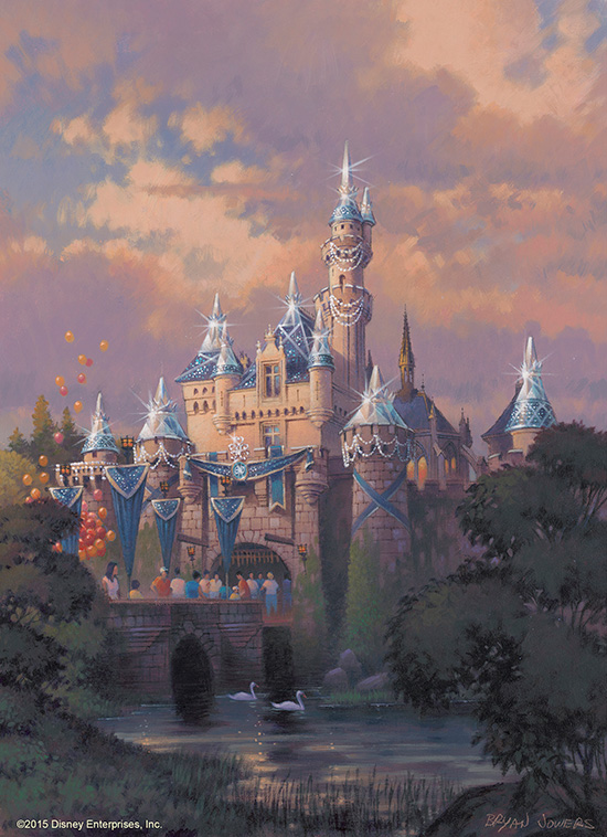 Artist rendering of Sleeping Beauty Castle with the Diamond treatment