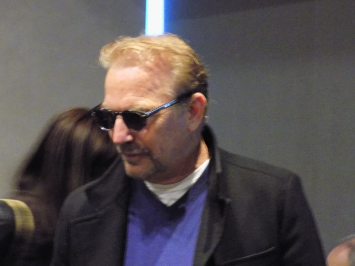 Mr. Costner at the press conference, very generous with his time