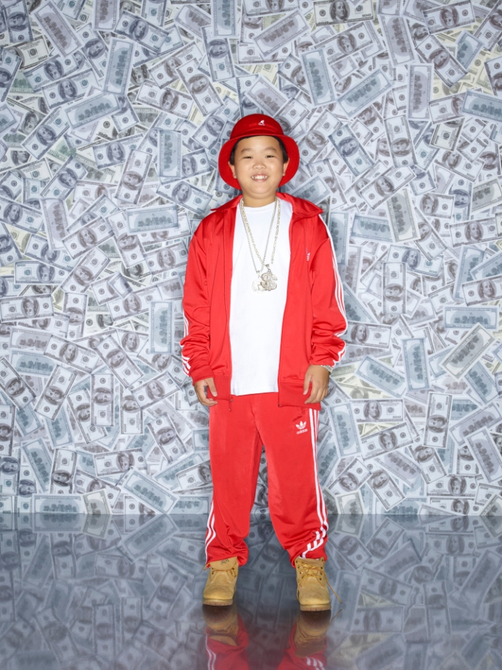 Hudson Yang as Eddie Huang in his bling