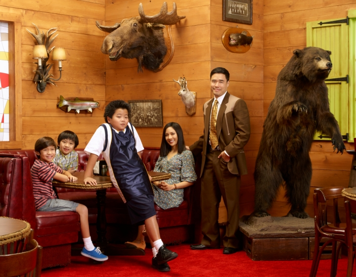 Hudson's on screen family from Fresh Off the Boat