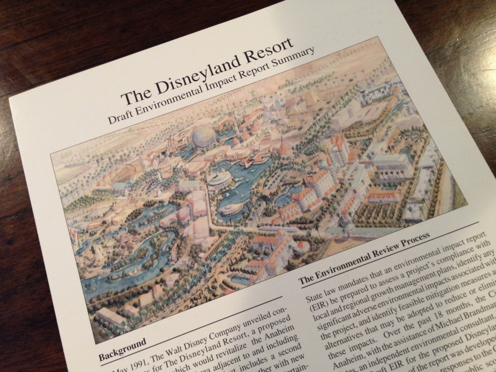Beautiful picture of the proposed new Disneyland Resort featuring WESTCOT