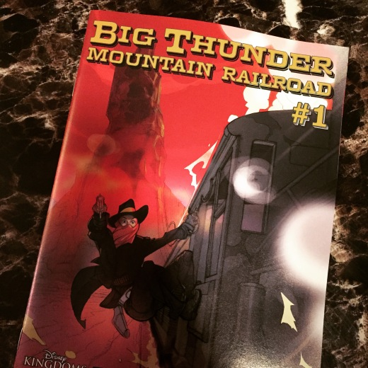The cover for issue #1 of Big Thunder Mountain Railroad