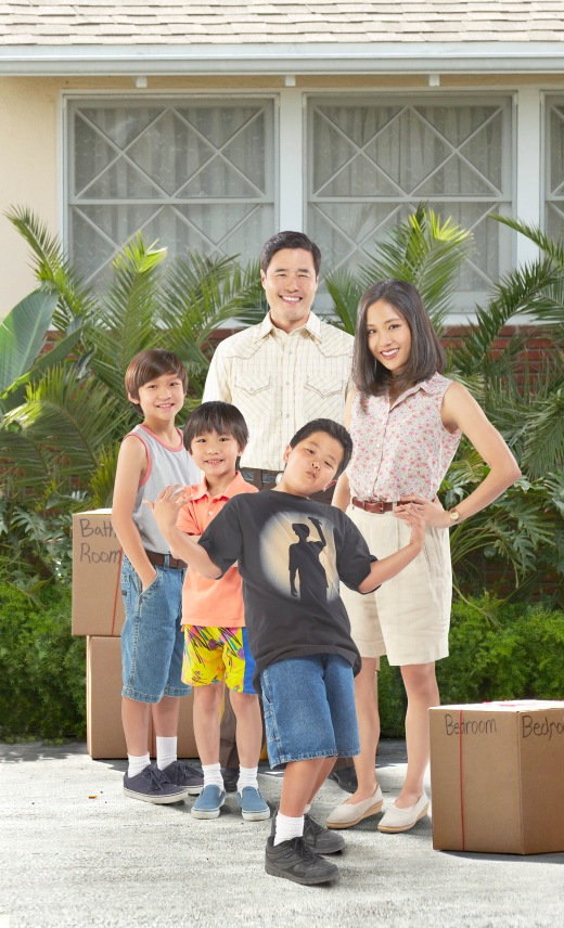 Eddie's on screen family from ABC's Fresh Off the Boat