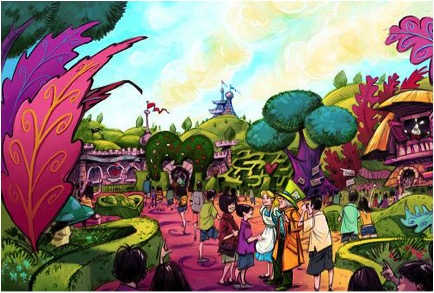 New Alice in Wonderland section in the Fantasyland expansion