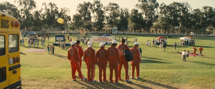McFARLAND, USA: Arriving at the state finals, Courtesy of Disney 2015