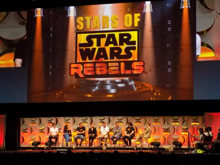Stars of Star Wars Rebels panel