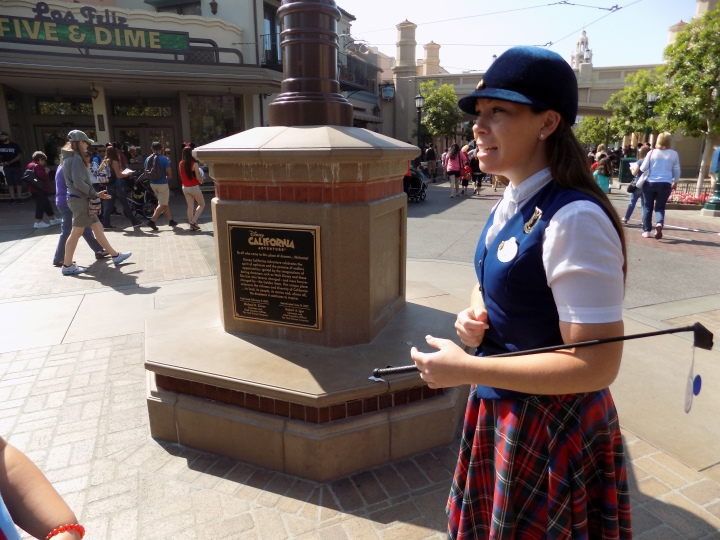 Beginning the tour at Buena Vista Street