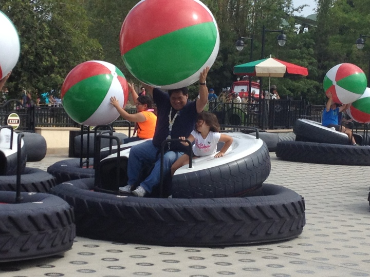 On board the ill-fated Luigi's Flying Tires on opening weekend