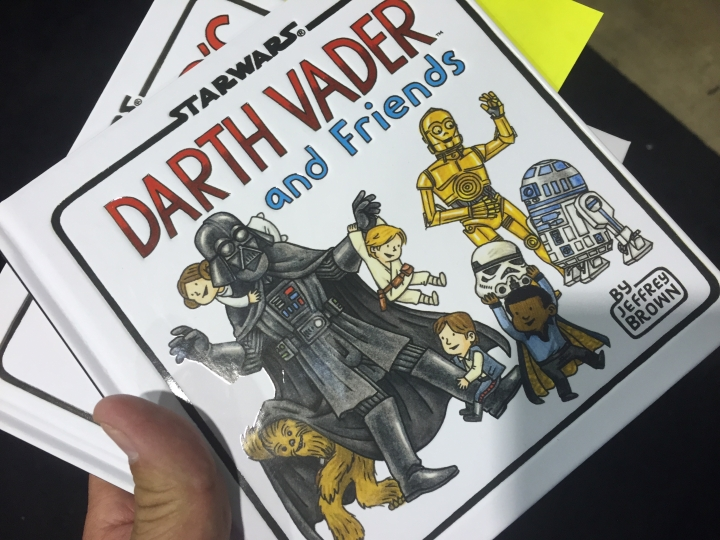 Getting my copy of Darth Vader and Friends signed by Jeffrey Brown