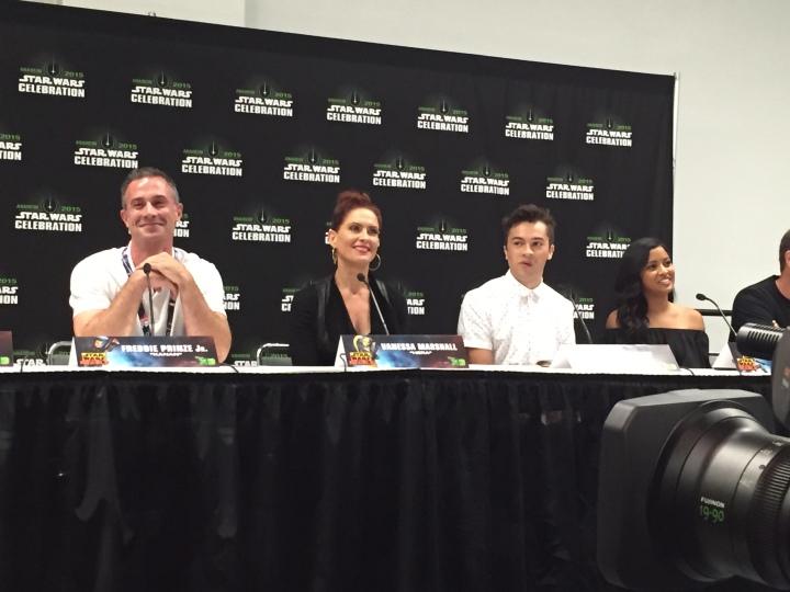 Freddie Prinze, Jr., Vanessa Marshall, Taylor Gray, and Tiya Sircar at the Season 2 press conference