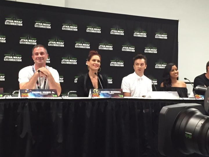 Freddie Prinze, Jr., Vanessa Marshall, Taylor Gray, and Tiya Sircar at the Season 2 press conference