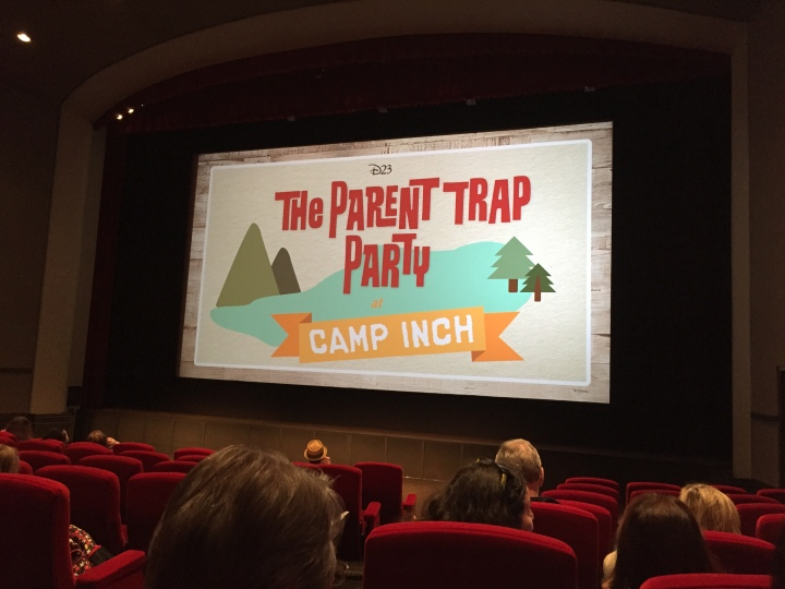 Everyone gathered in the theater waiting for The Parent Trap showing