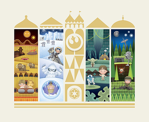 Jerrod Maruyama's most recent work featuring the characters from Star Wars