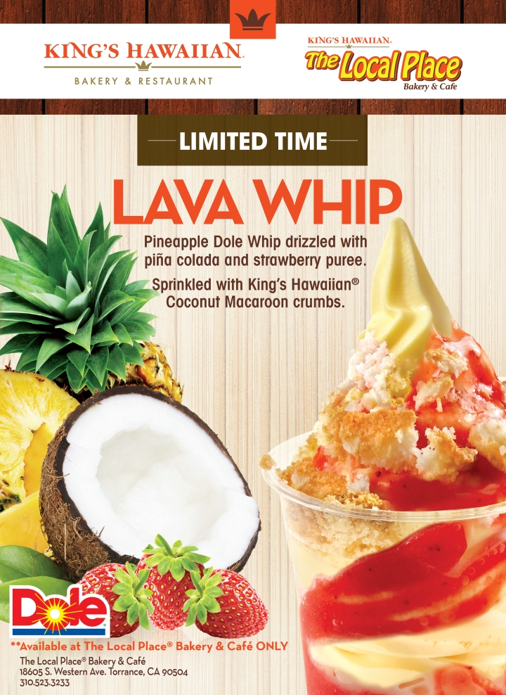 The Lava Whip - only for a limited time and only at The Local Place