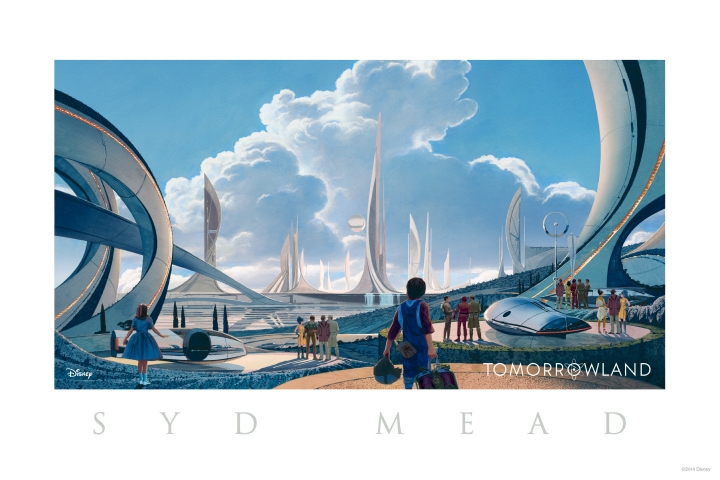 Disney's TOMORROWLAND..Conceptual Art look at Tomorrowland..Artist: Syd Mead..?Disney 2015