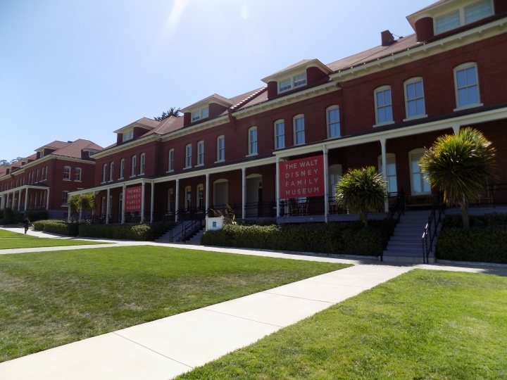 Walking into the Walt Disney Family Museum on a quiet piece of Presidio property