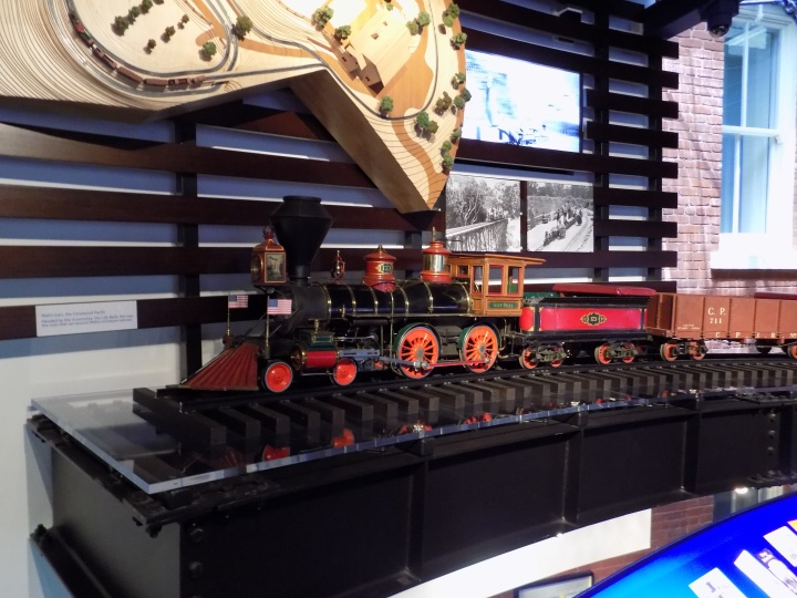 Walt's love of trains is well represented including this original train from Walt's home that he and his children used to ride on, fully restored