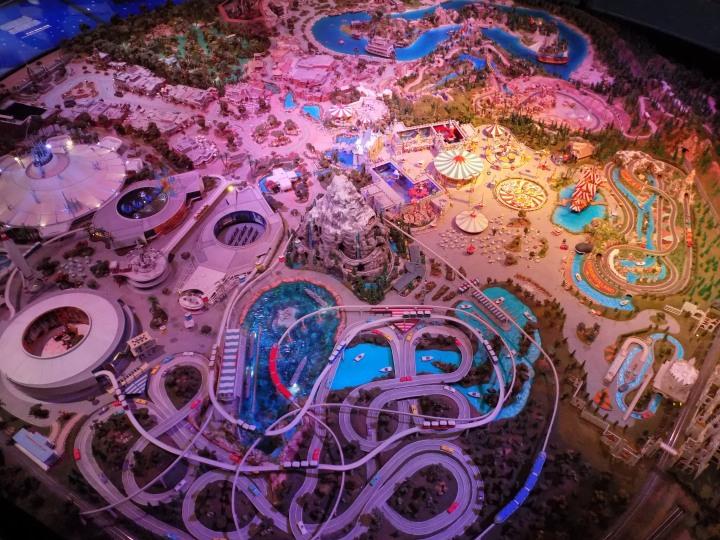 The huge replica of Disneyland in minature