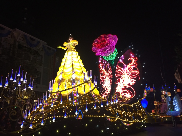The beautiful Beauty and the Beast float