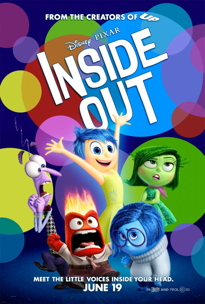 Theatrical poster for Inside Out, Pixar's newest animated movie