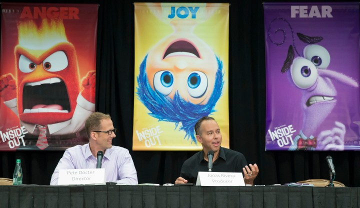 Beverly Hills, CA - June 7 - INSIDE OUT Press Conference  with director Pete Docter and producer Jonas Rivera moderated by Scott Mantz.